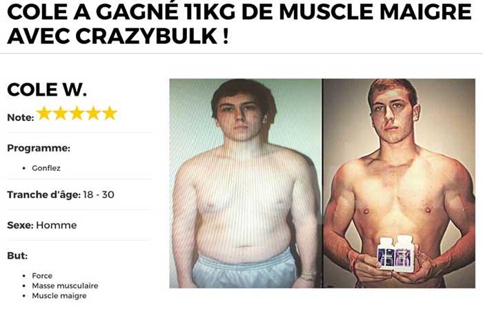 J'ai pu gagner 11 kgs de muscle après 4 semaines de trenorol,